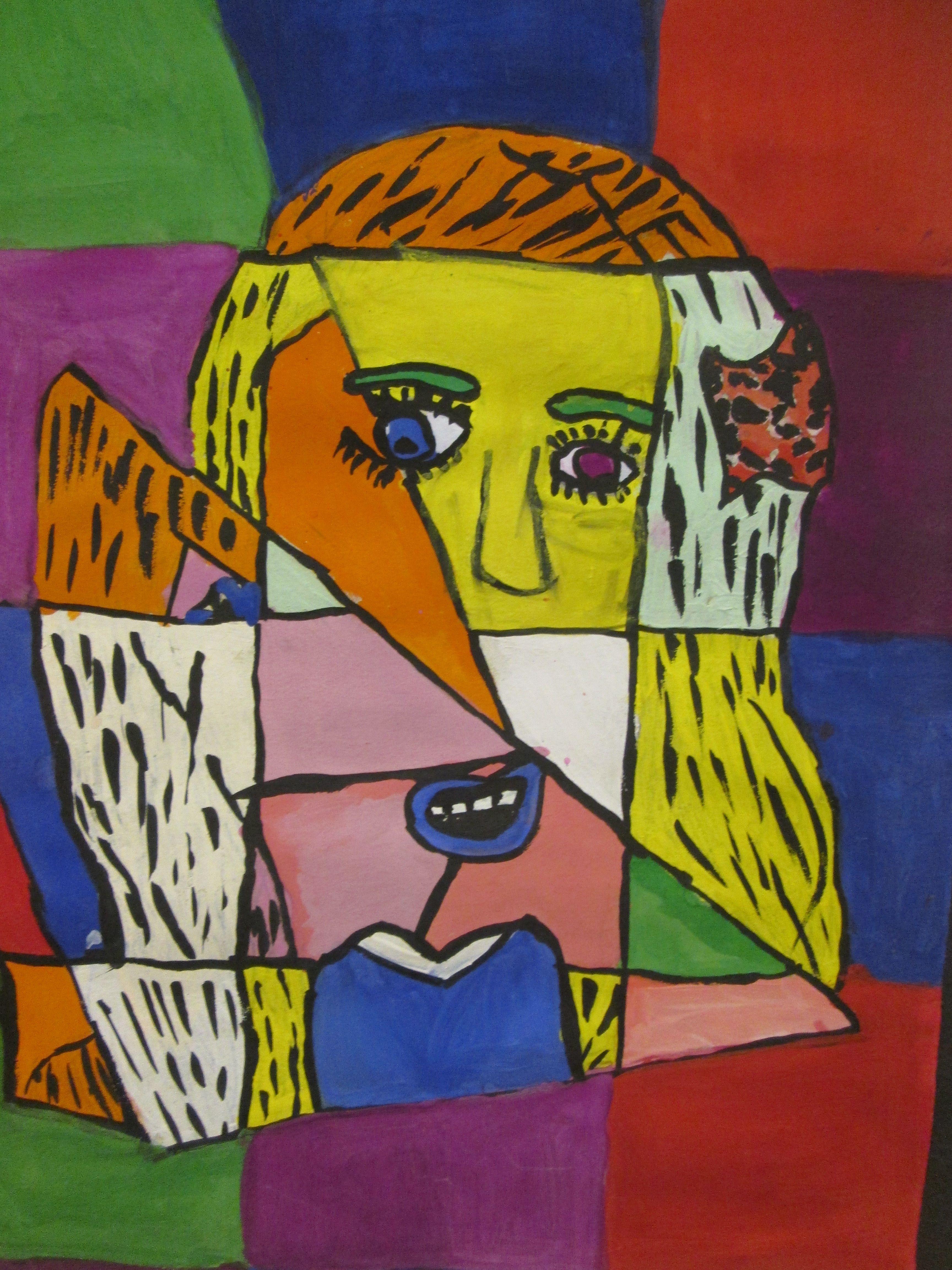 Cubist portrait painting