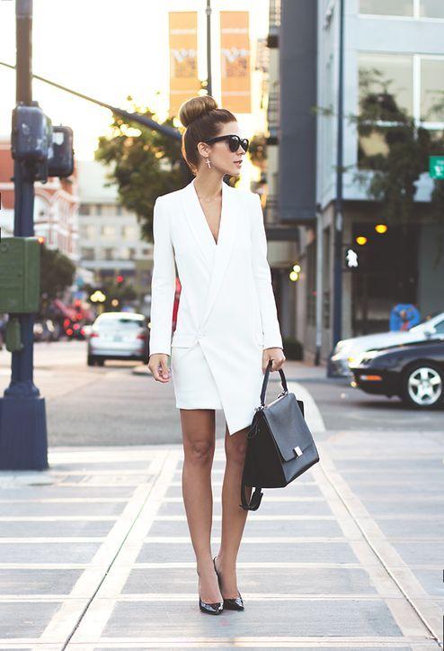 vestido de blanco a medida
