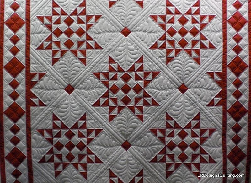 red and white quilts patterns | back i did use red thread in the ... : red white quilt - Adamdwight.com