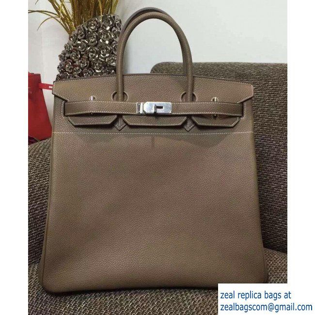 5ef019acc18 hermes Birkin HAC 40 Bag In Original Togo Leather Gray