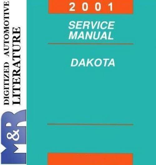 2001 Dodge Dakota An R1 Original Service Manual Dodge Dakota Dakota Procedural Writing