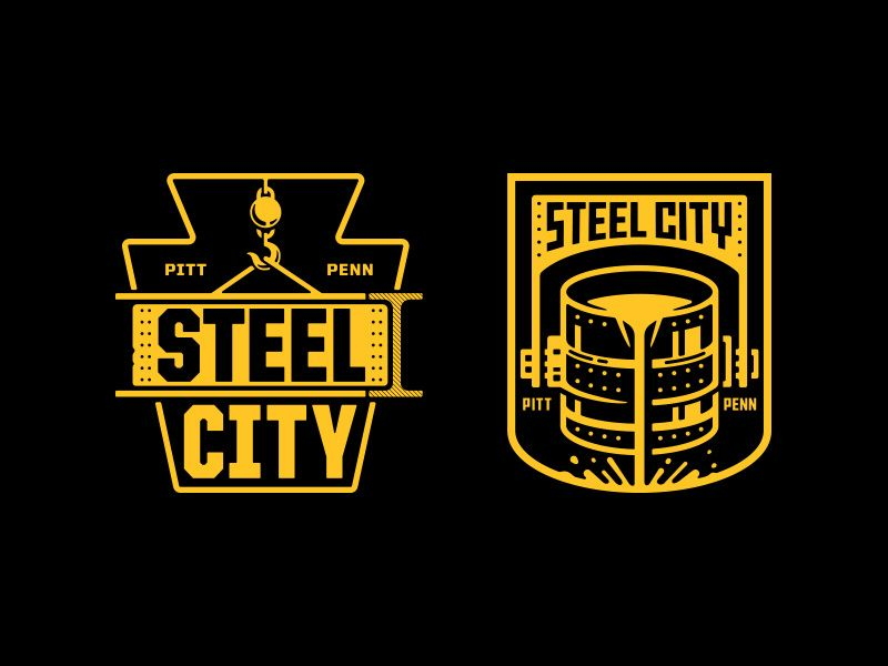 Steel City City Steel Badge Design