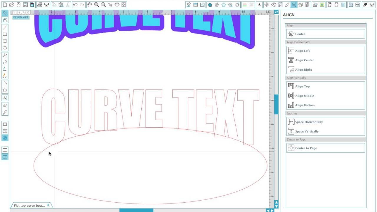 Curve bottom of text