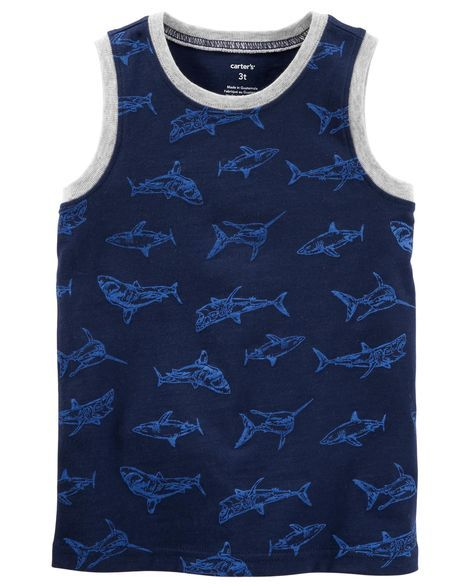9a48addc7c04b8 Shark Jersey Tank Carter Kids