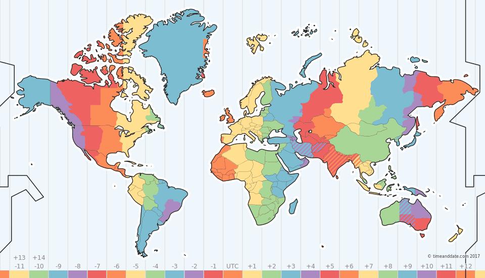 Time Zone Map Time zone map, Map, World time zones