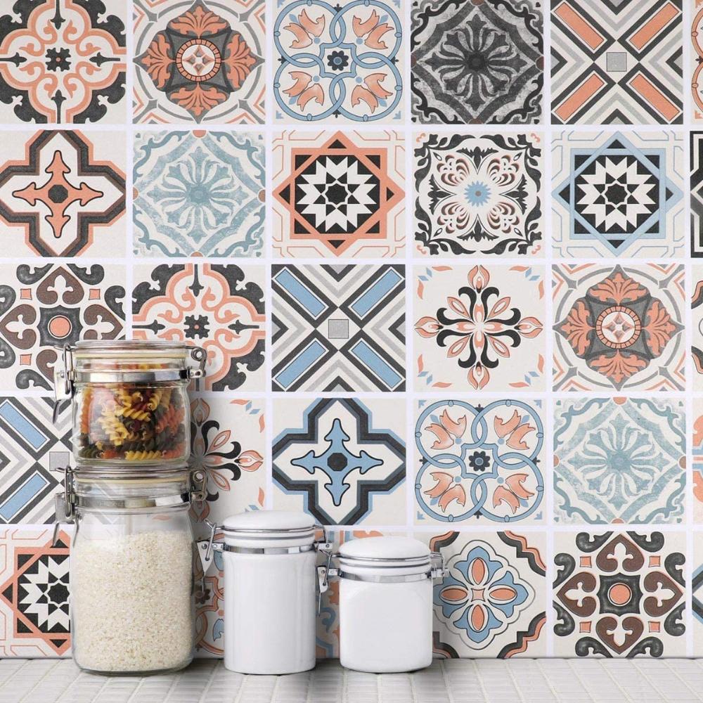 Küchenrückwand Fliesenaufkleber 19 x 19cm Mosaikfliese Klebefolie
