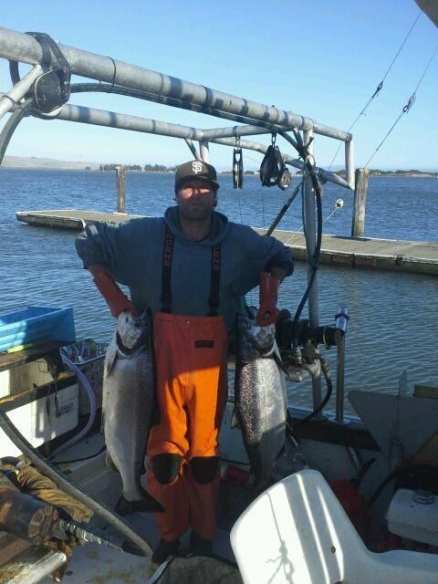 Santa Barbara fisherman Ben Hyman of the F/V Always Grinding showing ...