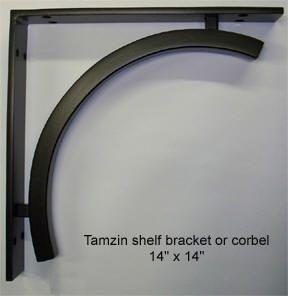 wrought iron shelf brackets and decorative corbels 4 - Decorative Metal Shelf Brackets