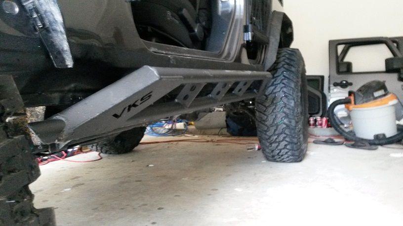 470 New Vks Fab Bolt On 4 Door Sliders Jkowners Com Jeep Wrangler Jk Forum Jeep Accessories Rock Sliders Truck Bumpers