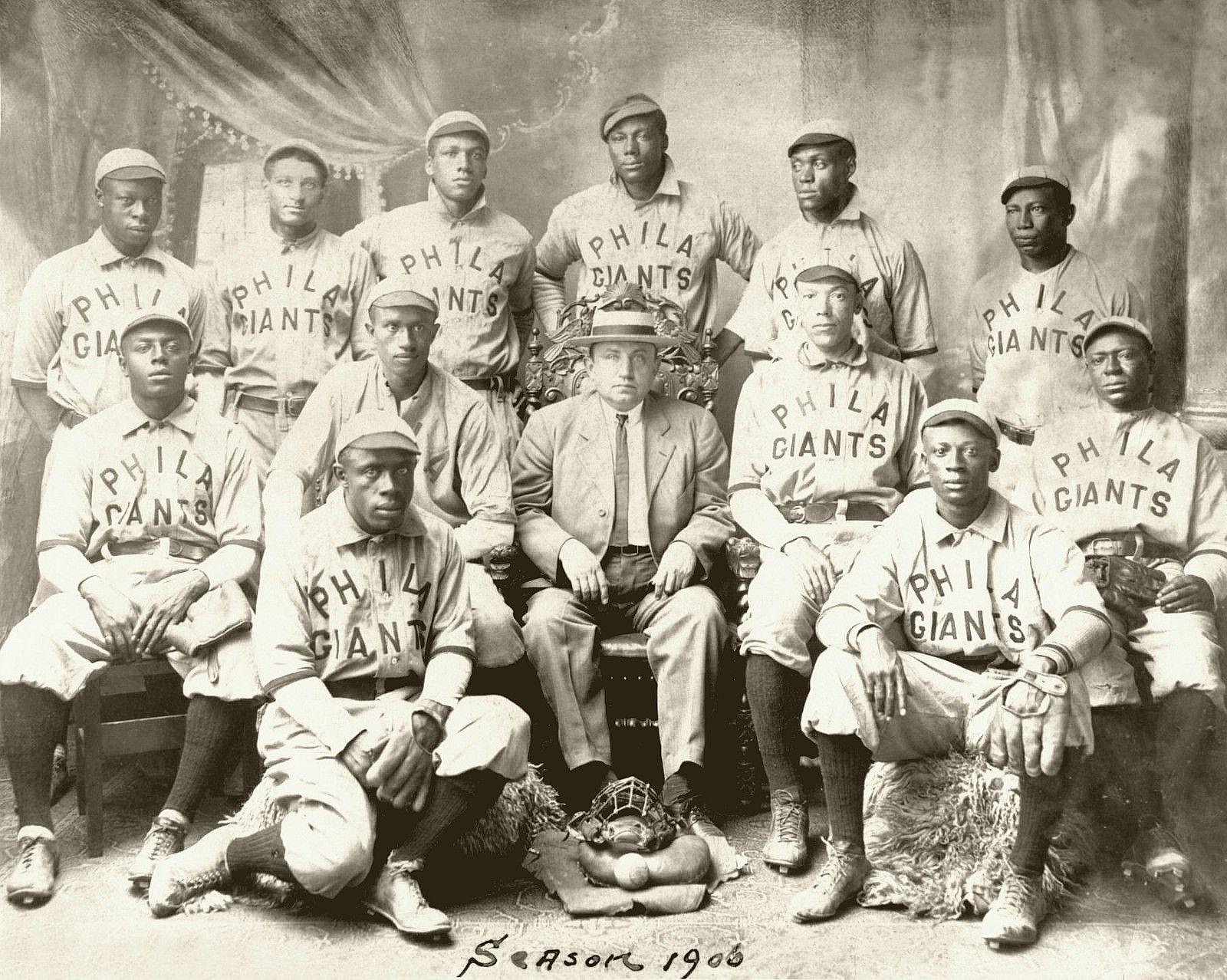 Philadelphia Giants, 1906 Negro League Champions