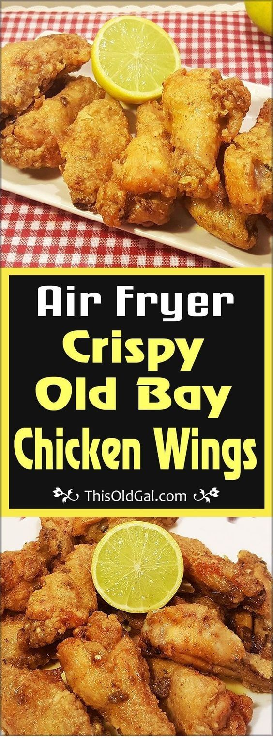 Air Fryer Crispy Old Bay Chicken Wings | Air Fryer Recipes #airfryerrecipes