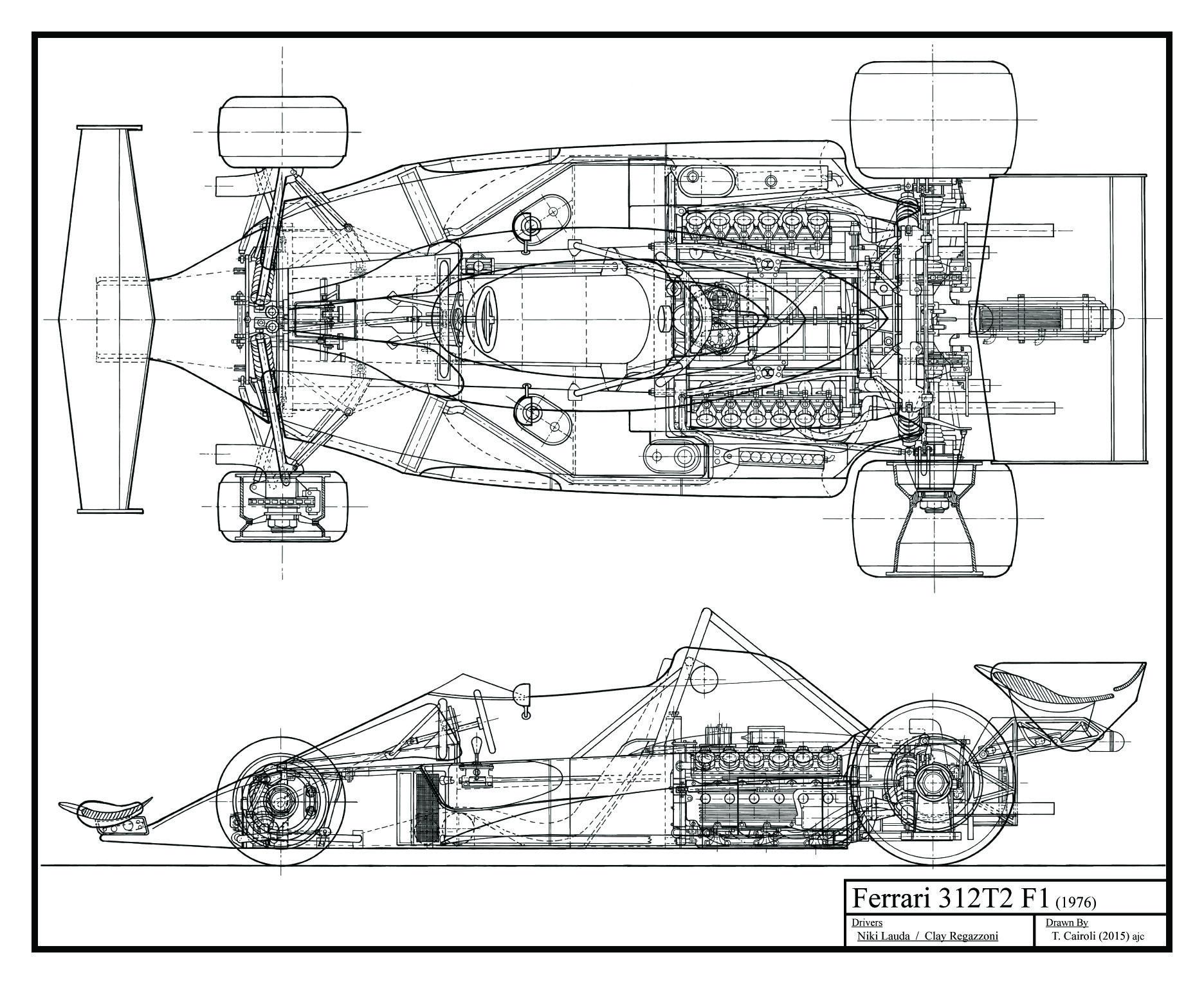 Ferrari 312 Blueprints