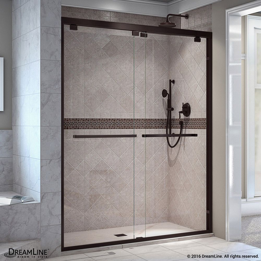 Dreamline Encore 44 48 In W X 76 In H Bypass Sliding Shower Door