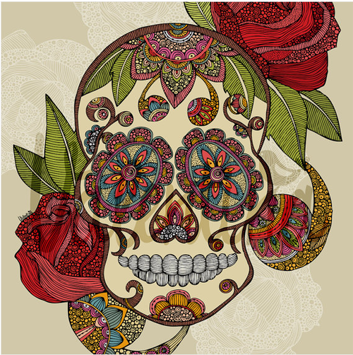 sugar skull drawing | Tumblr | Ink | Pinterest | Sugar skulls