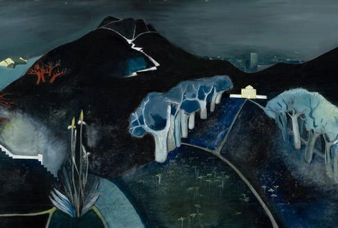 Tove Jansson: Mystinen maisema kuva: Valtion taidemuseo, Kuvataiteen keskusarkisto / Hannu Aaltonen