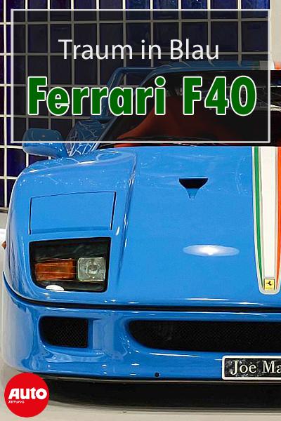Was eine Rarität ein Ferrari F40 in Blau! ferrari f40