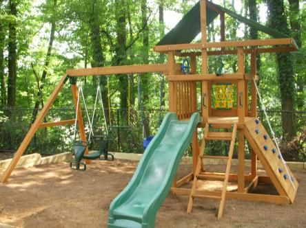 Swing Sets Ideas Love This Type Of Layout Playground