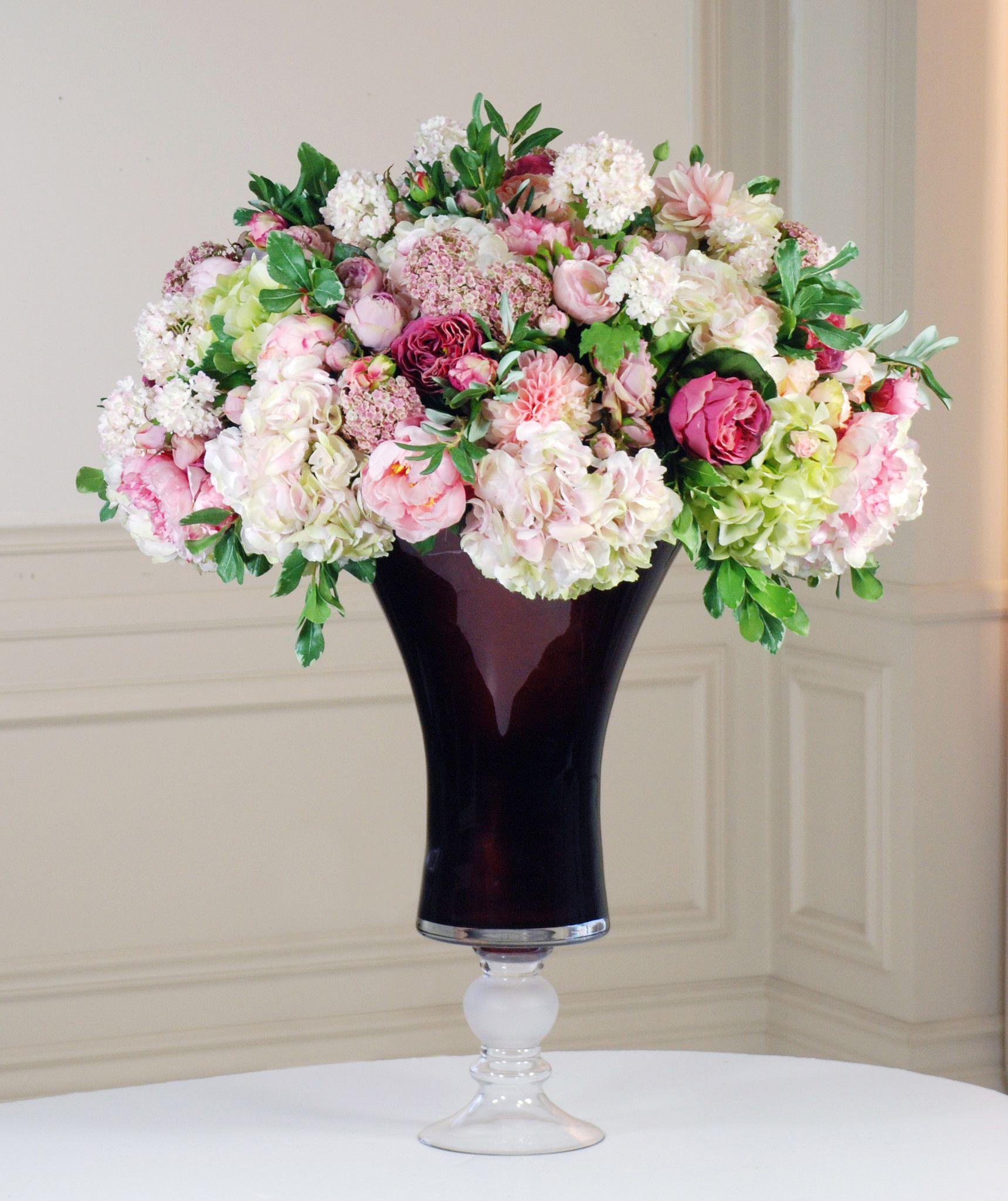 Best Quality Silk Garden Flowers Centerpiece High End Silk Flower