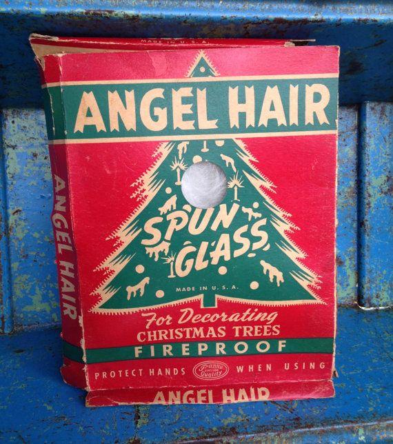 Christmas Tree Angel Hair Spun Glass Tinsel Box Vintage Etsy Childhood Memories Christmas Memory Vintage Christmas