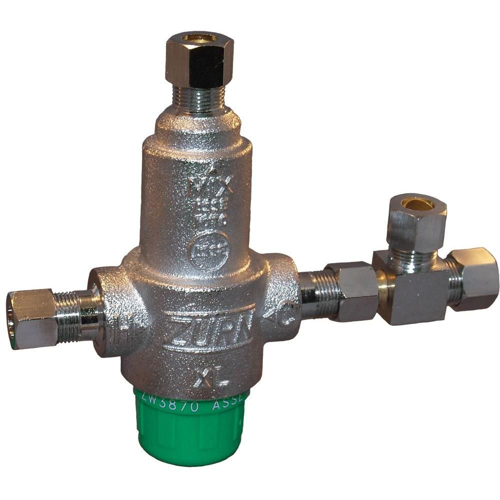 Zurn Wilkins 3 8 In Lead Free Aqua Gard Thermostatic Mixing Valve