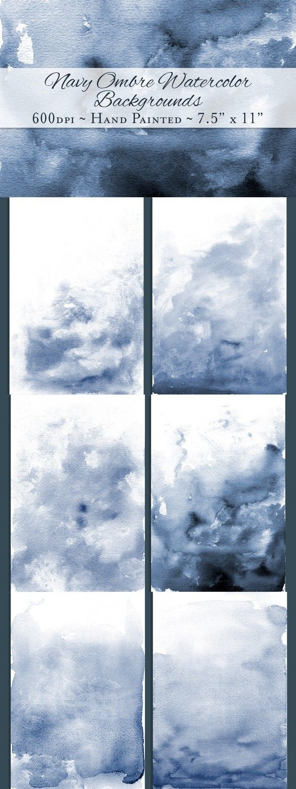 Navy Ombre Watercolor Backgrounds Watercolor background