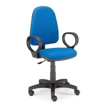 Poltrone Con Ruote Per Ufficio.Mod 305 Sedia Per Ufficio E Studio Girevole A 360 Fusto A 5