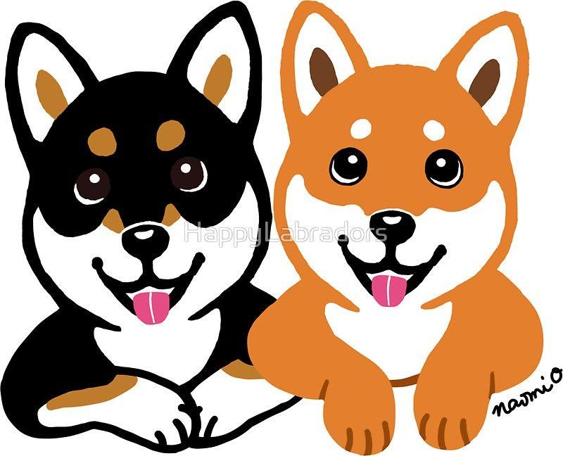 Happy Shiba Inu Friends Sticker By Happylabradors Shiba Inu Shiba Inu