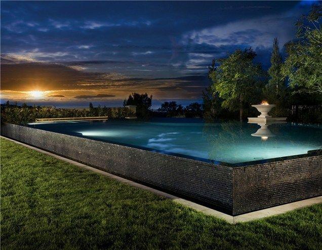 Raised Pool Pool At Night Swimming Pool Studio H