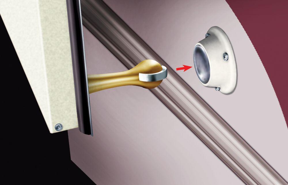 how to stop a metal door from slamming
