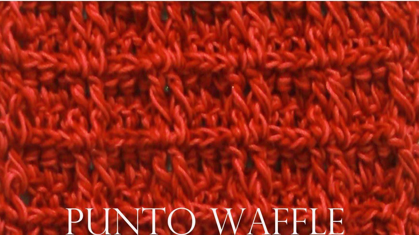 Como tejer a crochet punto waffle fácil y rápido - Make Knitting ...