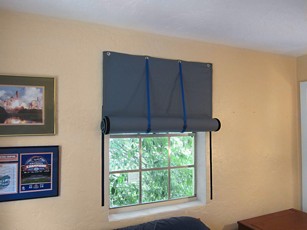 sound blocking curtains keep the