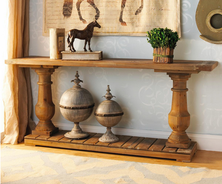 Wood Turned Baluster Console Table   Shades Of Light
