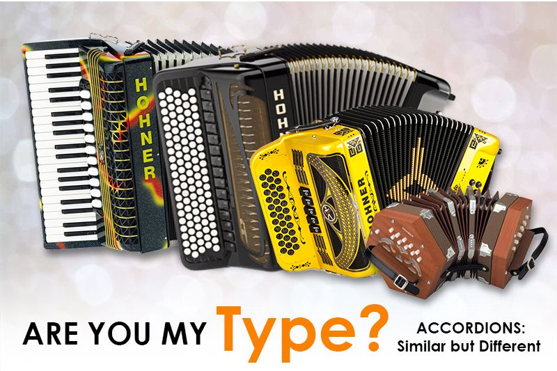 Are You My Type? Accordions Similar but Different