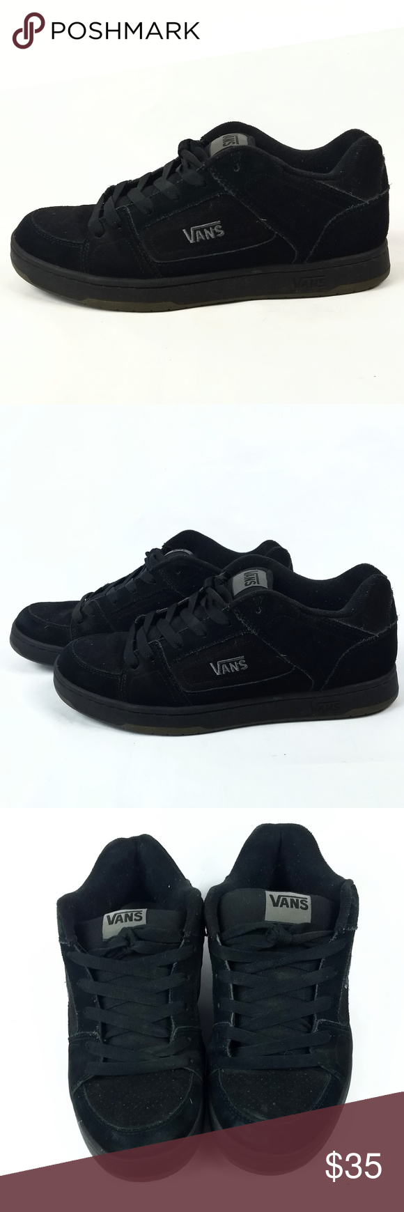 Vans Docket Skate Black Suede Flat