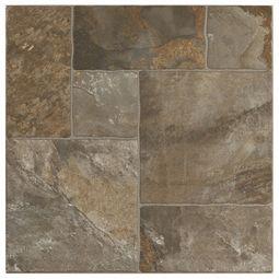 Mix Aran Stone Porcelain Tile Sunroom Floor