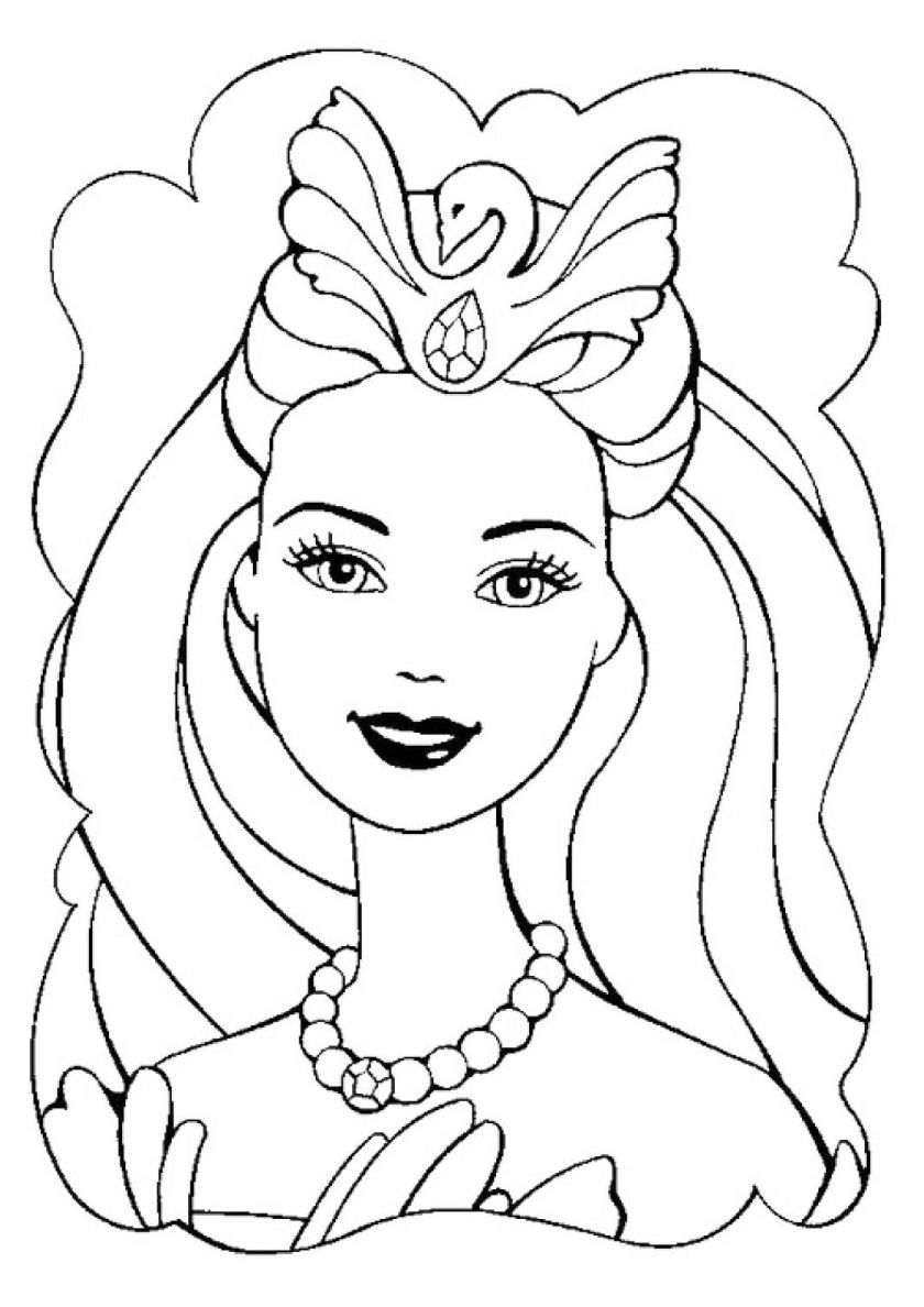 Fitting The Crown High Quality Free Coloring From The Category Barbie More Printable Pictures Unicorn Coloring Pages Coloring Pages Birthday Coloring Pages