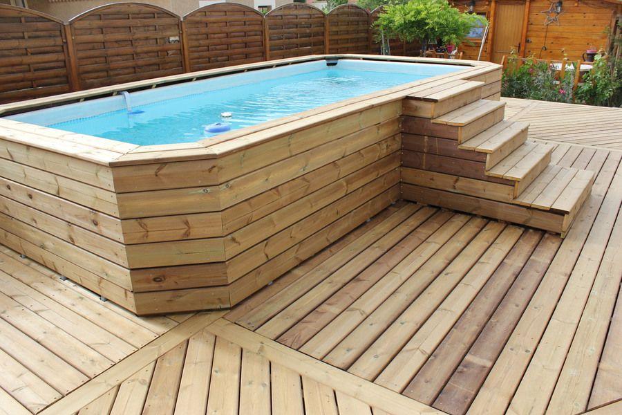 terrasse bois autour piscine hors sol entourage de piscine hors sol en bois terrasse with. Black Bedroom Furniture Sets. Home Design Ideas