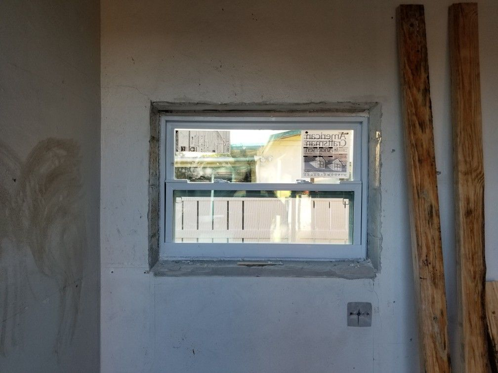 Hurricane impact window replaced window ac, allowed for