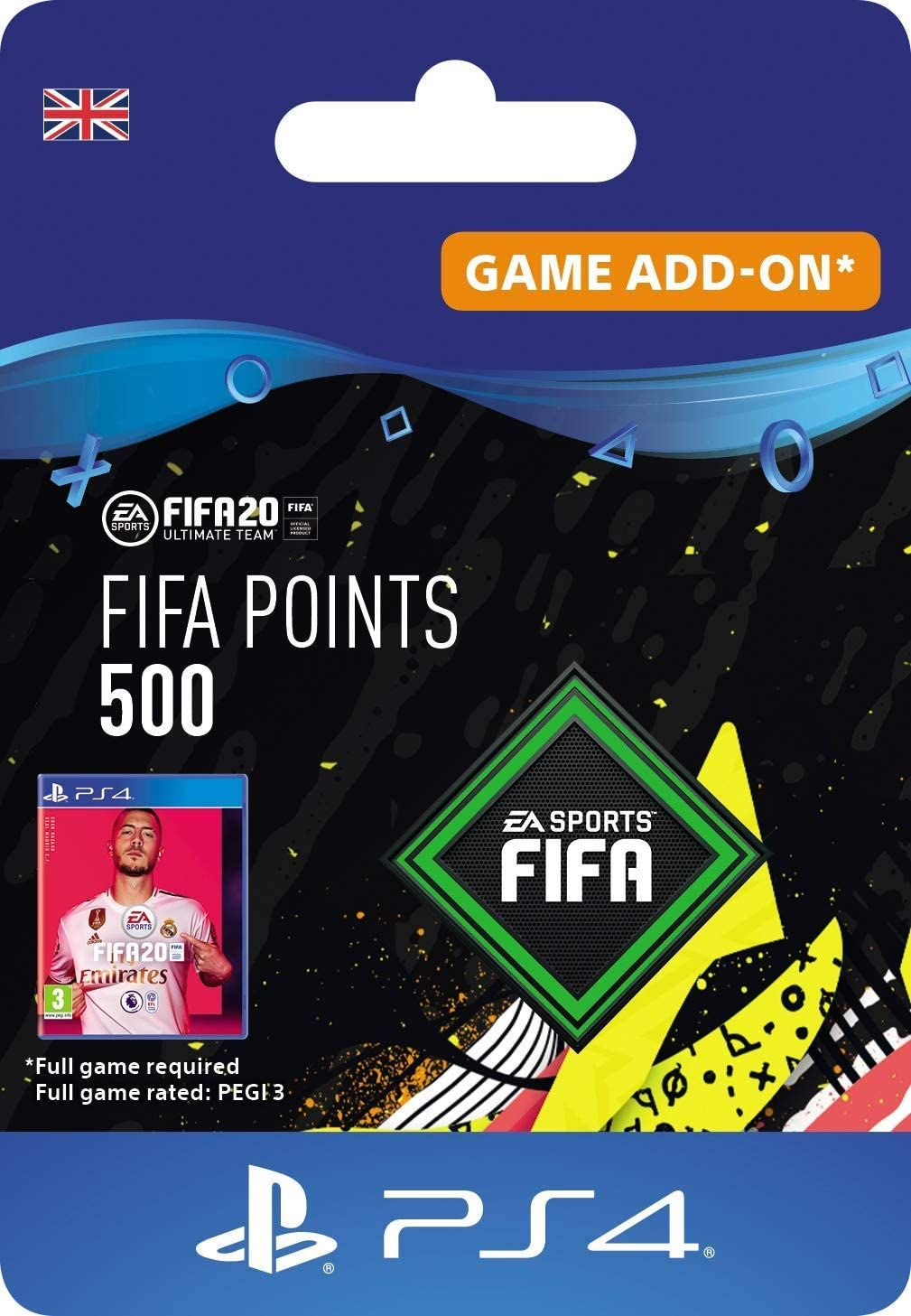 FIFA 20 Ultimate Team 500 FIFA Points DLC PS4 Download