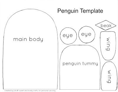 Awesome Sweet And Lovely Crafts: Cute Penguin Craft Template