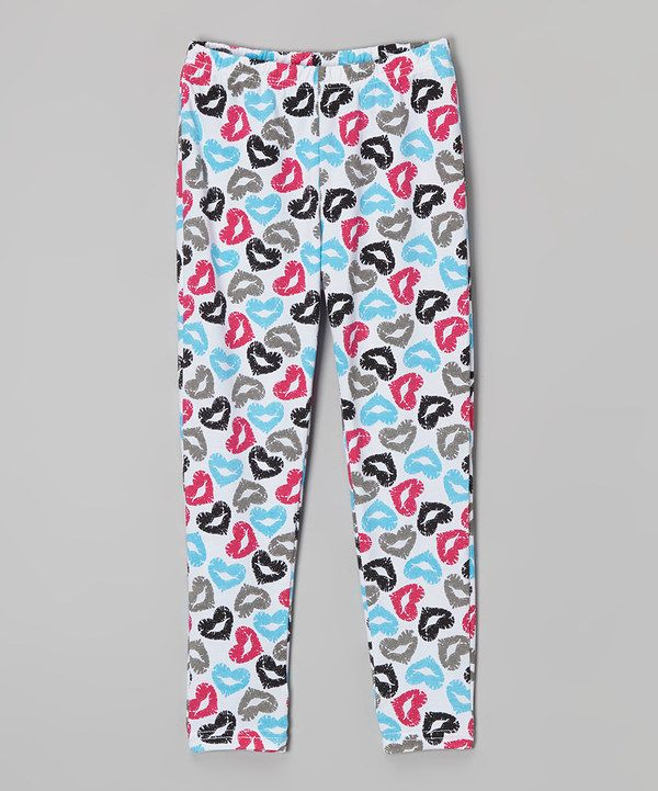 Look at this Black Heart Kiss Leggings on #zulily today!