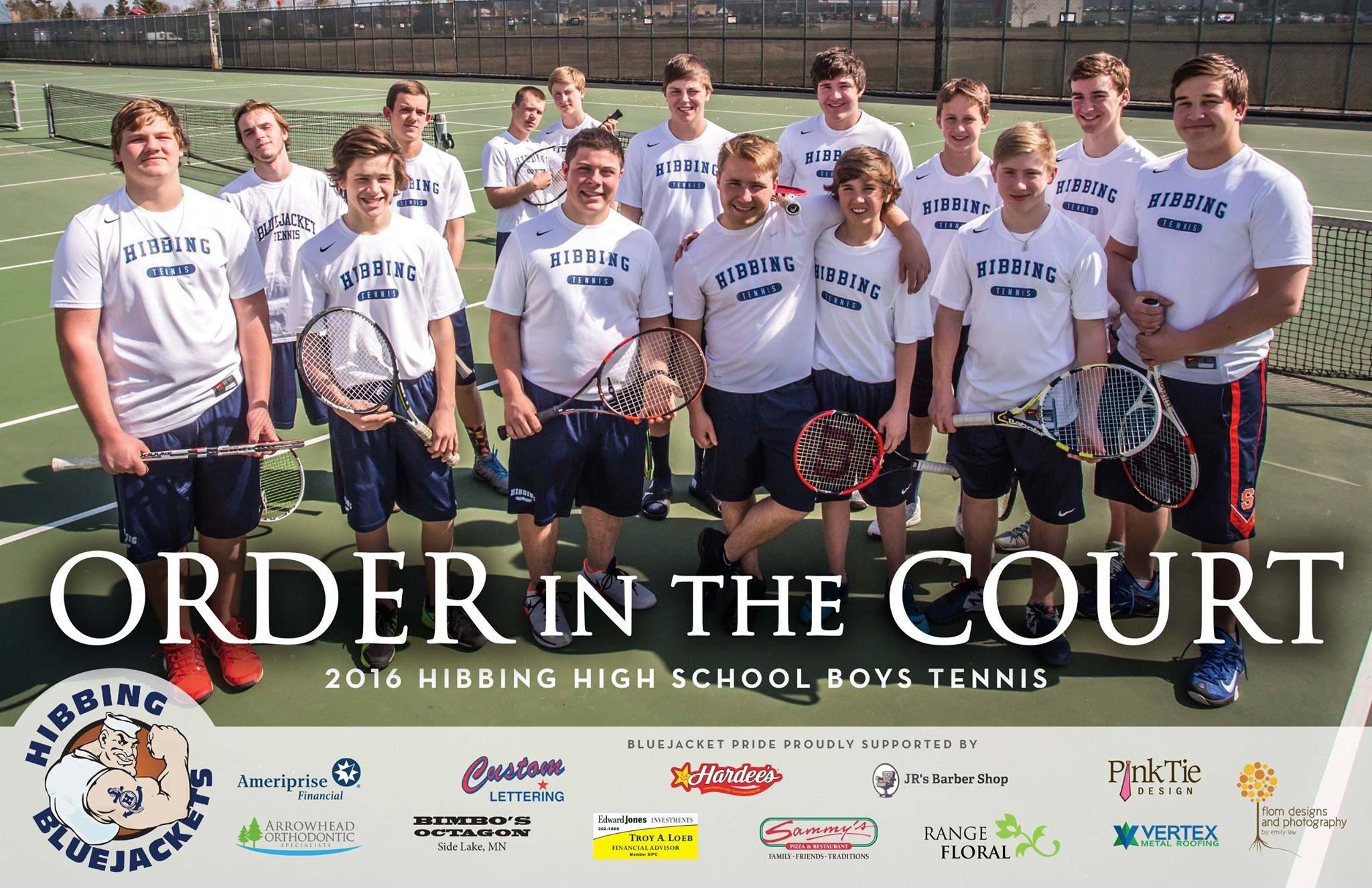 Tennis Team Poster Tennis Hibbing Poster Team Poster Ideas Tennis Team School Boy