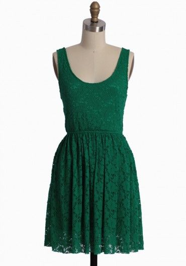 Love this emerald green lace!