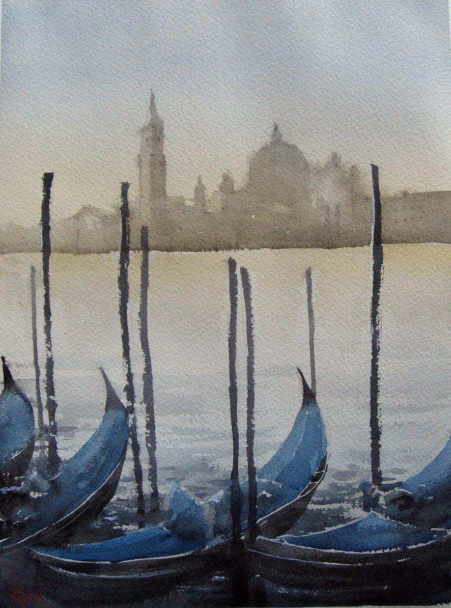 Artavenuebc Watercolor Boat Art Painting