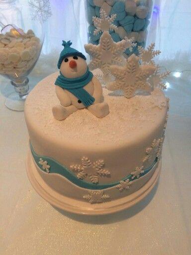 Winter Wonderland Snow Man Cake Winter Wonderland Baby Shower