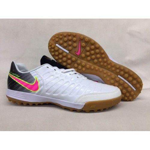promo code 3e8ef 27a39 chaussure de foot salle Nike Tiempo Legend VII TF Homme Blanche Noir Rose