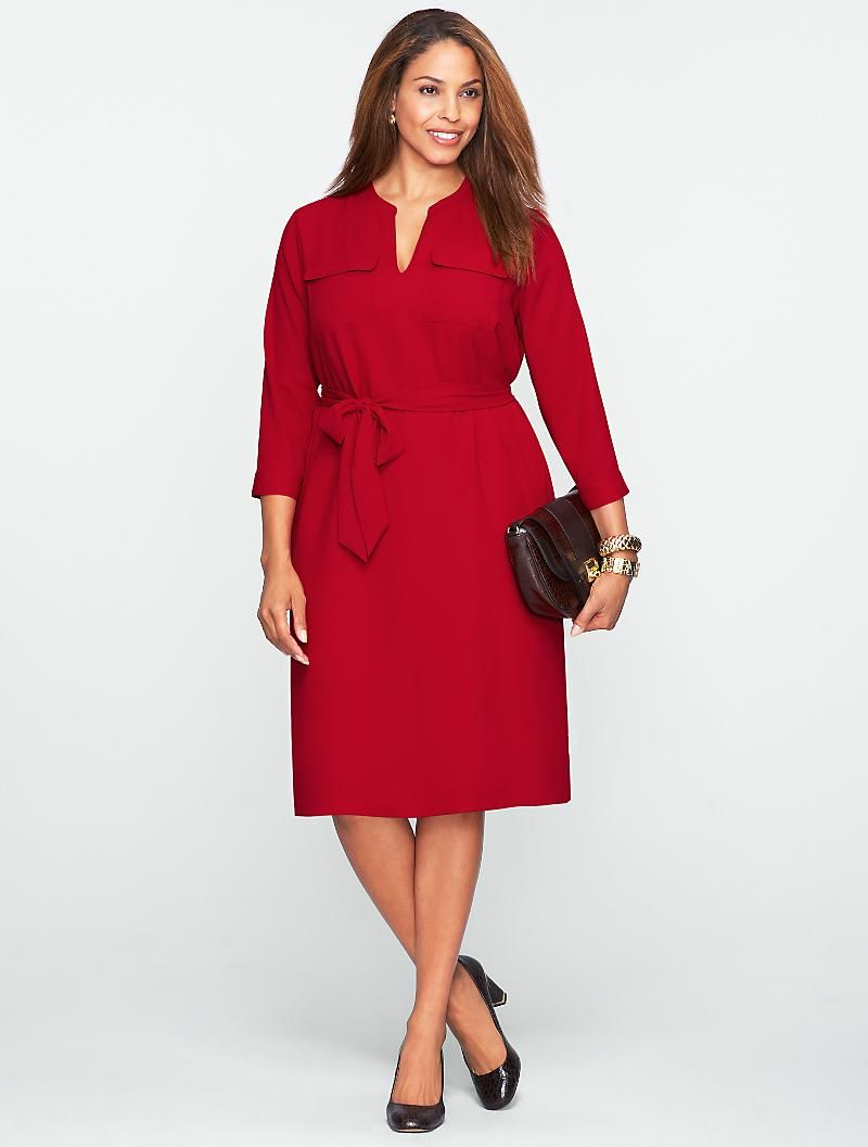 Plus Size Crepe Dress from Talbots Clothing Pinterest