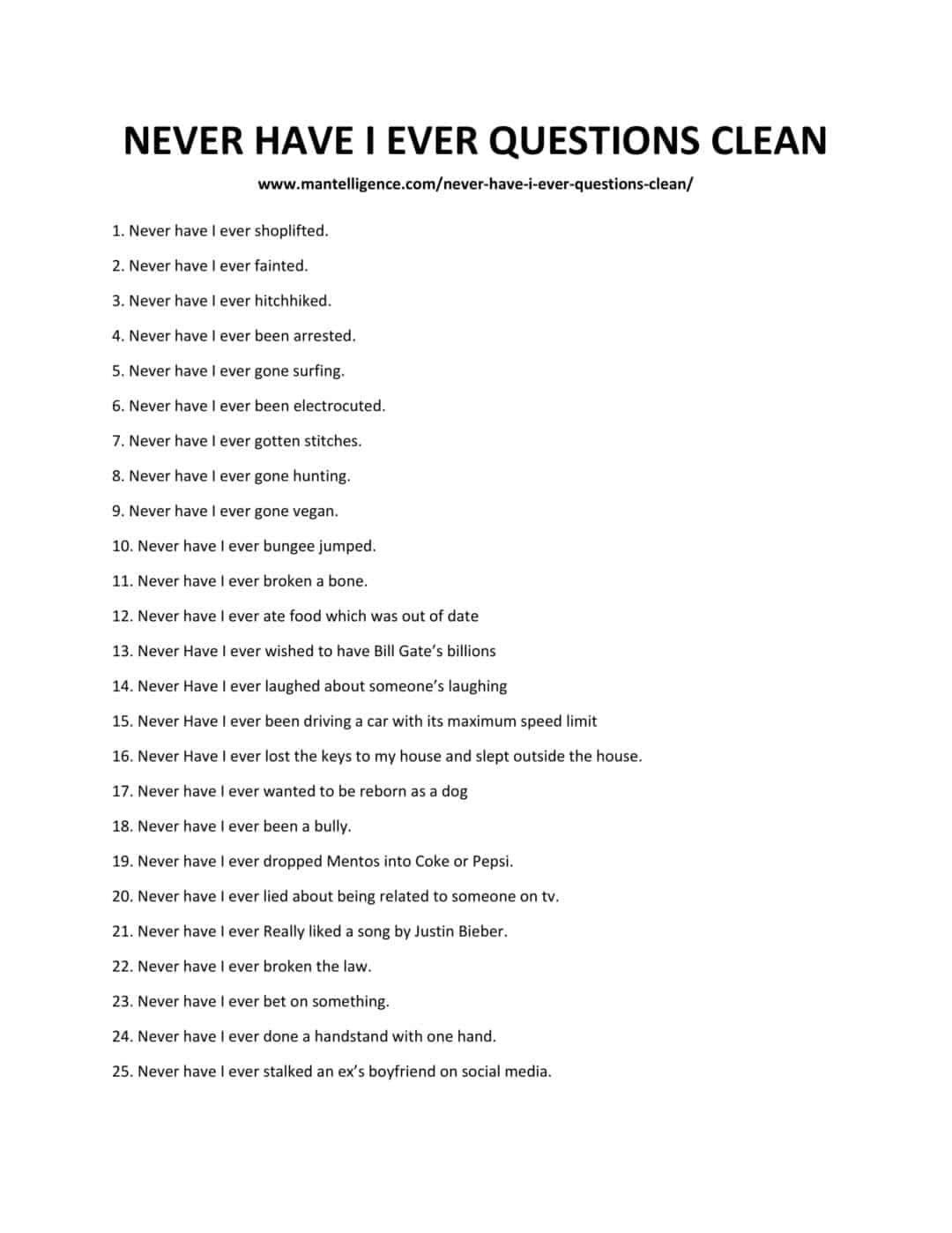 Photo of 116 Lo mejor Nunca he tenido preguntas claras: crea conversaciones divertidas.
