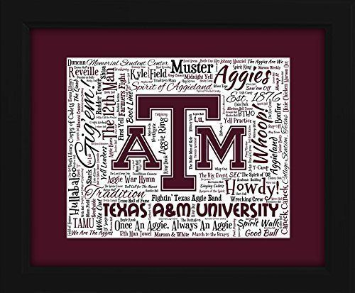 Texas AM 16x20 Art Piece  Beautifully matted and framed behind glass ** Check this awesome product by going to the link at the image.Note:It is affiliate link to Amazon.
