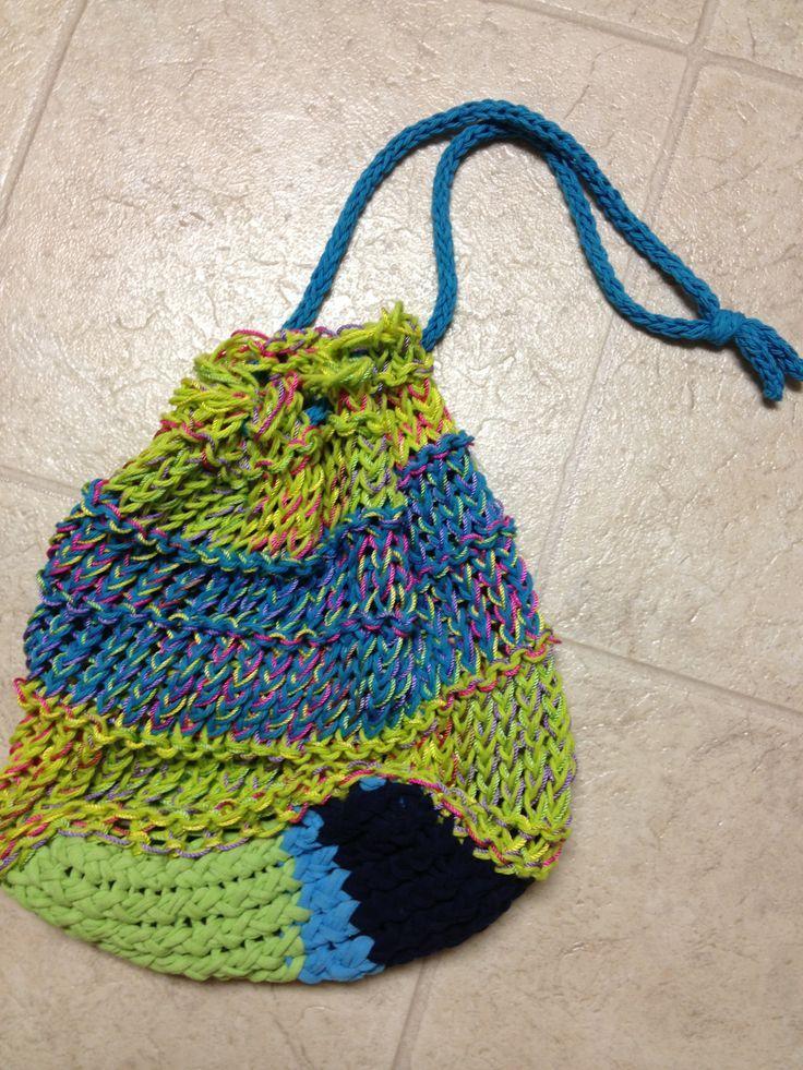 Loomknittingbagpattern Beach Bag Loom Knit Pattern By Kristin
